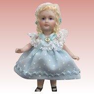 """Sweet 3"""" Bisque Artist Doll"""