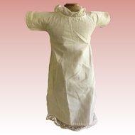 Antique WHite  Doll Dress