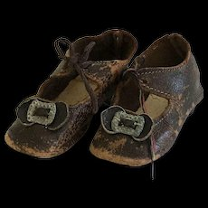German Leather Doll Shoes