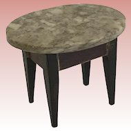 Antique Dollhouse Marble Top Table