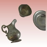 Lovely Dollhouse German Pewter Accessories