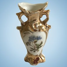 Beautiful  German Dollhouse Porcelain Dollhouse Vase