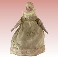 Sweet Antique German  Tiny Bisque Doll ca. 1880-1900
