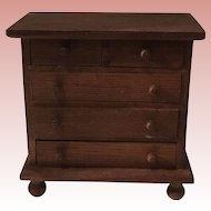 Beautiful Dollhouse German Antique Chest of Drawers