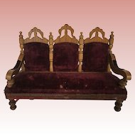 Beautiful Dollhouse Schneegas Settee 19th Century
