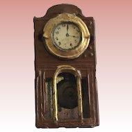 Antique German Metal Dollhouse Clock