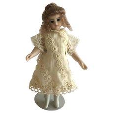 "Beautiful Artist Made Bisque Doll 5 1/2"""
