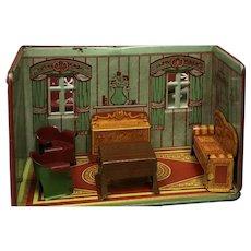 Fabulous Marx Newlywed Living  Room ca. 1930's