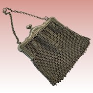 Lovely Antique Small Mesh Purse For Doll
