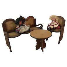 Wonderful Wood  Doll Furniture with StoryBook Dolls
