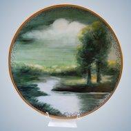 Limoges ~ Hand Painted Porcelain ~ Delinieres & Co.~  Landscape Scene~Signed