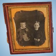 Antique Daguerreotype of Two Young Children