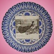 Vintage Royal Doulton Porcelain Plate Of Gibson Girl