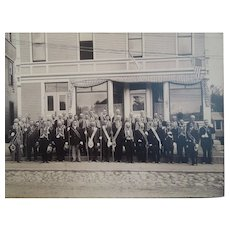 Victorian, Fraternal, Large, Masonic Group Photograph