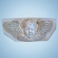 Vintage Cherub, Putti, Angel Chalkware Wall Plaque