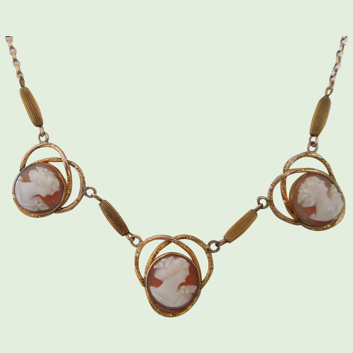 Shell Cameo Necklace 1 20 10k Amco