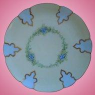 Haviland Limoges Hand Painted Porcelain Plate, Artist Signed, 1894-1931