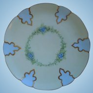Haviland Limoges Hand Painted Porcelain Plate, Artist Signed, 1894-1931