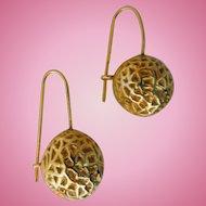 Vintage Sterling Silver Italian Ball Earrings