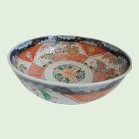 Antique, Large, Japanese, Imari, Porcelain Bowl