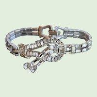 Vintage Mazer, Art Deco, Rhinestone, Bracelet, 1940's