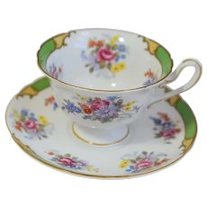 Vintage Shelley, Porcelain, Floral, Cup And Saucer