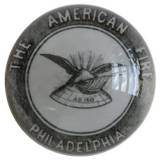 "Antique William Maxwell, Advertising, Art Glass, ""The American Fire Philadelphia"" Paperweight, Signed, Circa 1882"