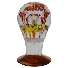 Antique, Millville, Pedestal, Stem, American Art Glass, Paperweight
