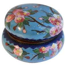 Vintage Chinese Cloisonne Box With Butterflies