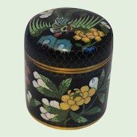 Vintage Chinese Cloisonne Round Box