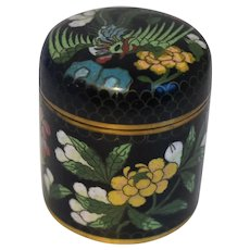 Vintage Chinese Cloisonne Round Box