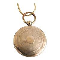Antique Victorian Photo Watch Locket 14K Gold Plated, 1845-1860