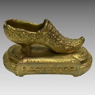 Dore' Bronze Matchholder/Striker in form of Shoe