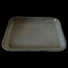 "Large Graniteware Tray 16 3/4"" in length"