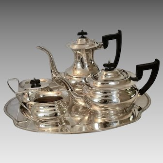 Sheffield Mid Century 5 pc. Silverplate Tea Set