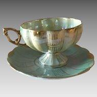 Vintage Japanese Porcelain Tea Cup and Saucer
