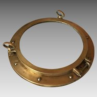 Working Bronze and Glass Ship Porthole