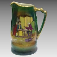 Royal Bayreuth Pitcher With Dickensian Design c. 1910
