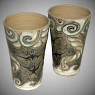 Shearwater Pottery Tumblers Chris Stebly 1989