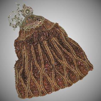 Early Beaded Framed Hand Bag c. 1915