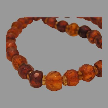 Honey Butterscotch Faceted Amber Necklace