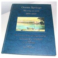 Postcard Book Town Views Ocean Springs, Mississippi 1900-1950