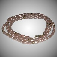 """Cultured Baroque Pearl Necklace Clasp marked """"Pat 537985"""""""