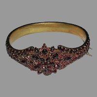 Victorian Bohemian Garnet Bracelet 29 grams c. 1890 – 1900