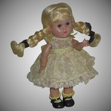 Ginny Doll Blonde Straight Leg Walker 7 ½ inch marked c. 1955/6