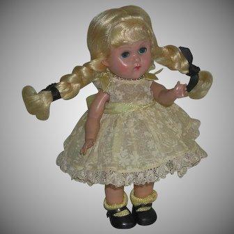 Ginny Doll Blonde Straight Leg Walker 7 ½ inch marked c. 1955/6