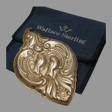 Sterling Wallace Ornament Pendant 1989 marked
