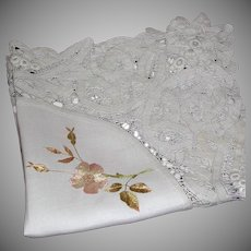Embroidered Society Silk Floral Centerpiece Doily