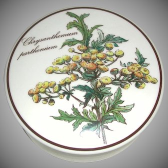 Vintage Villeroy & Boch Luxembourg Lidded Candy Dish Chrysanthemum