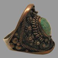 Unisex Ring Emerald Stone marked China